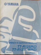 GENUINE YAMAHA TT-125P(C) TT-R125LWP(C) Owners Service Manual LIT-11626-15-24