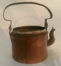 Antique Chinese Beautiful Antique Copper Teapot  Maker Mark
