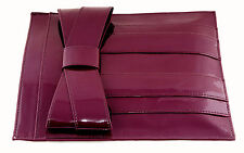 NWT ZAC POSEN SHIRLEY BOW SLIP IN IPAD SLEEVE CASE W STORAGE POCKETS BURNT PLUM