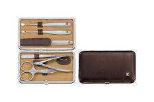 Zwilling Twinox Elk Rahmen-Etui braun Elchleder 6tg.Beauty Maniküre Manicure-Set