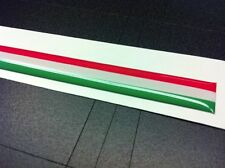 Adesivo Fascia tricolore Italia resinata 3D 30 x 1 cm