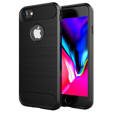 SDTEK Carbon Fibre TPU Case Silicone Phone Cover for iPhone 7 / 8