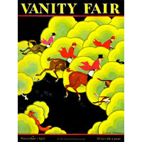 Magazine Cover Surreal Fox Hunt Blood Sport Clouds Horse Hound USA Canvas Print