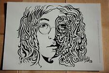 JOHN LENNON beatles Art Postcard Handbill 5X7 like poster print Joshua Marc Levy