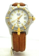 Esquire ESQ - 100222 Ladies Watch - Leather Band - Two-Tone Stainless ~#3489