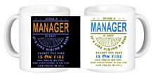 Being  A Manager Is Easy It's Like Riding A Bike Except Novelty Ceramic Mug