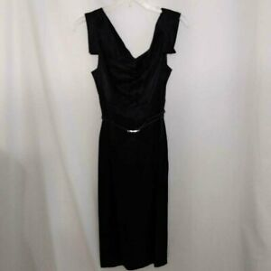 BLACK HALO BELTED DRESS SIZE X SMALL