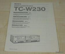 Sony TC-W230 Bedienungsanleitung (mehrsprachig, auch in Deutsch)