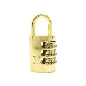 Authentic LOUIS VUITTON Dial Lock Cadena Gold Tone Brass No.000 #K410029