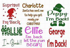 Elf is Back Balloon Vinyls -choice of 6 designs and colours