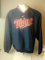 Nike Minnesota Twins Pullover Windbreaker Dugout Warm Up Jacket Mens Large. #848