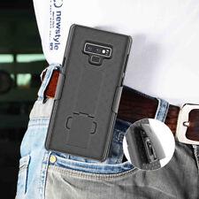 Belt Clip Holster Rugged Hybrid Kickstand Hard Case For Samsung Galaxy Note 9