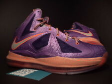 Nike Air Max LEBRON X 10 AREA 72 ALL-STAR LASER PURPLE GREY CRIMSON ORANGE 7Y 7