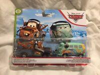 Disney Pixar Cars RACE TEAM MATER & FILLMORE HEADSET 1:55 DIECAST TOKYO DRIFT