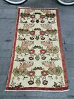 Small Floral Design Rug, Turkish Entryway Rug, Floral Welcome Rug 2.6X4.7 ft