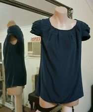 Marcs silk blouse.Sz6.Relaxed fit. Midnight Blue. VGC