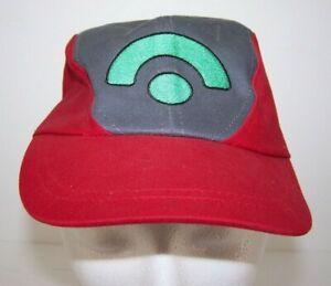 Pokémon Nintendo Youth Cap 2003 Gamer Red Gray Strapback Adjustable