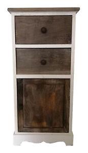 Side Table & Draws & Door Lamp Book Two Draws One Door Bedside Table  HW-639