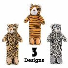 Wild Animals Warm Plush Super Soft Cover & Hot Water Bottle 900ml *FREE DELIVERY
