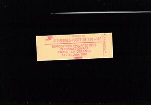 10 timbres Liberté 1F80 rouge Philexfrance 82  cote 17€ presse 9 ouvert