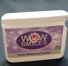 WOW SMILES Teeth whitening powder 40g mint flavour Tooth Brightening 6 months