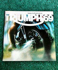1969 TRIUMPH MOTORCYCLE BROCHURE TRIDENT BONNEVILLE TROPHY-650 T100R DAYTONA 250