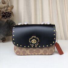 Coach Womens Real Leather Shoulder  Crossbody  Handbag Purse Casual Chain Bags