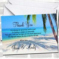 Tropical Beach Palm Tree Wedding Thank You Cards