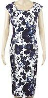 New Viyella Ladies Blue & White Sleeveless Knee Length Dress Size 10-20 RRP £139
