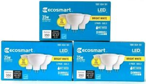 3 Boxes Ecosmart Bright White LED 1001 654 101 35w Replacement 3 Count Bulbs