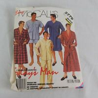 McCall's 2779 Easy Size Medium Men's Pajama Shorts Nightshirt Robe Pattern Uncut