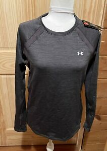 NEW Under Armour Fitted ColdGear Womens Gray Top Size Large ~ MSRP $49.99