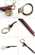 NWT GUCCI CELLARIUS Classic Leather/Metal KEYCHAIN