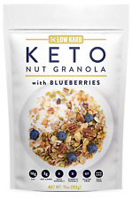 Keto Blueberry Nut Granola Healthy Breakfast Cereal - Low Carb Snacks (11 oz)