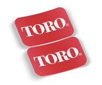 "TORO Logo Vinyl Decal/Sticker 6""x4"" 2 Items, 3M, High Quality, Free Shipping"