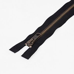 Heavy Duty ZIP YKK Open End No 5 Metal Brass Teeth Jacket Coat Boot 6 - 40 Inch