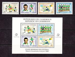 Cameroun Sc 848-851a MNH. 1990 World Soccer Championship + Souvenir Sheet, VF