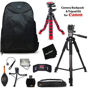 Premium Camera Backpack + Tripod KIT f/ Canon EOS Rebel T5i, T5, T6, T6i, T6s T3