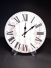 Vintage Style Wooden Hanging Wall Clock ROMAN Wood Design