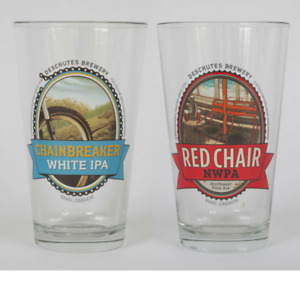 2 Deschutes Brewery Pint Glasses - NEW