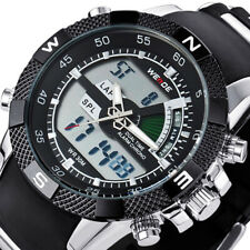 WEIDE Men Cool LCD Digital Sport Waterproof Backlight Silicone Strap Cuff Watch