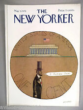 New Yorker Magazine - May 3, 1976 - FRONT COVER ONLY ~~ Saul Steinberg, Lincoln