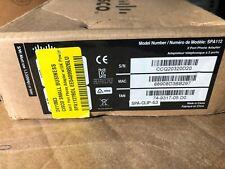 Cisco SPA112 with 2-Pin PSU Cisco 74-9317-05 (SPA-CLIP-G3) 2-Port Phone Adapter