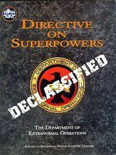 JDR RPG JEU DE ROLE / DC UNIVERSE DIRECTIVE ON SUPERPOWERS