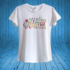 Aloha Summer Floral Happy T-shirt 100% cotton unisex women