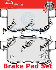 Apec PASTILLAS DE FRENO TRASERO Set Repuesto de calidad OE pad1637