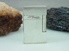 S.T. Dupont Feuerzeug Silber Linie 2