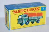 Matchbox Lesney No 1 Mercedes Truck empty Repro Box style E