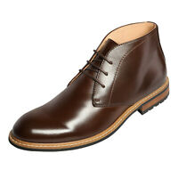 Mens Chukka Dress Ankle Boots Leather Lined Oxfords Lace Up Chelsea Boots Brown