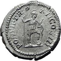 CARACALLA 209AD Rome Silver Genuine Authentic Ancient Roman Coin VIRTUS i61495